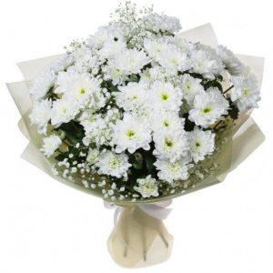 Букет из белых хризантем — Букеты цветов
