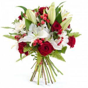Букет «Волшебный» лилии и розы — Букеты цветов