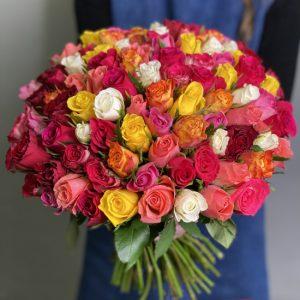 101 роза Кения — Букеты цветов