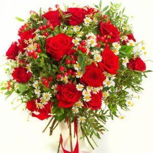 Букет «Бургундия» — Букеты цветов