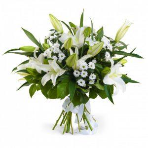 Букет «Снежная Королева» из лилий — Букеты цветов