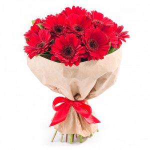 Букет красных гербер — Букеты цветов