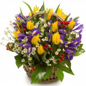 Корзина цветов «Розали» — Букеты цветов