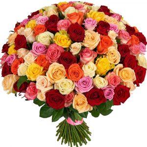 201 роза микс — Букеты цветов