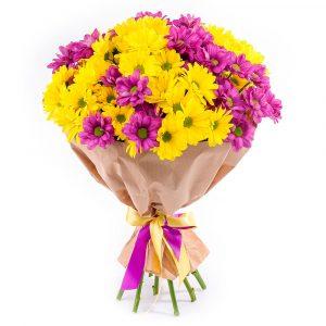 Букет из кустовых хризантем — Букеты цветов