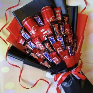 Букет из шоколада и колы «Сияние» — Детские букеты