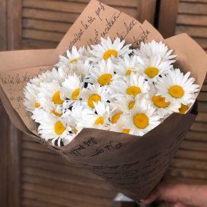 Букет из 25 крупной ромашки — Букеты цветов