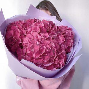 Букет из 7 гортензий фуксия — Букеты цветов