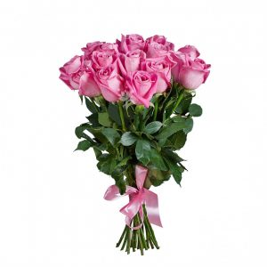 15 розовых роз — Букеты цветов