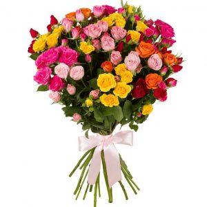 15 кустовых роз — Букеты цветов